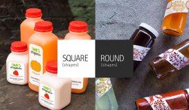 Square v Round Juice Bottles