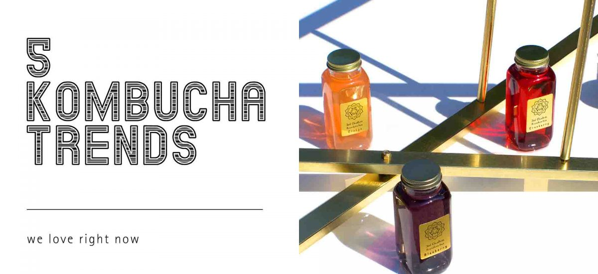 Five Kombucha Bottle Branding Trends We Love Right Now