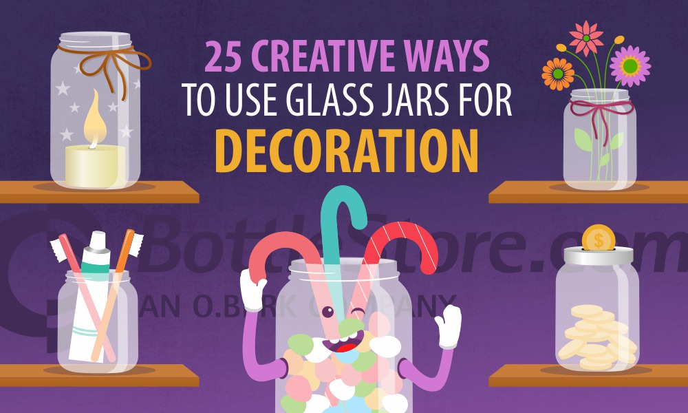 25 Creative Ways to Use Glass Jars for Decoration