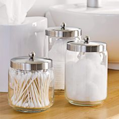 Decorative Glass Jars for Bathroom