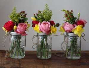Glass jar Flower Vase
