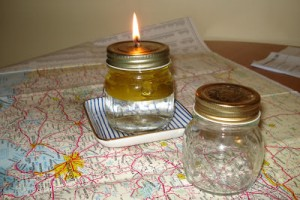 Glass Jar Oil Lamp