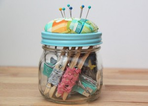 Glass Jar Sewing Kit