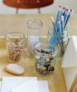 Glass jars for your office use