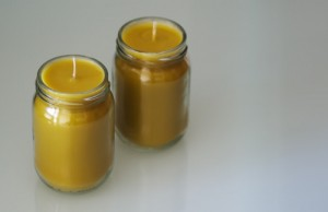 Homemade candles