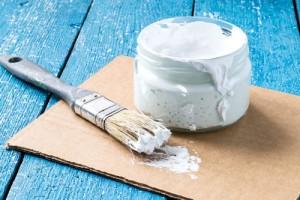 White paint to repair and brush