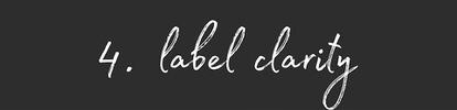 Label Clarity
